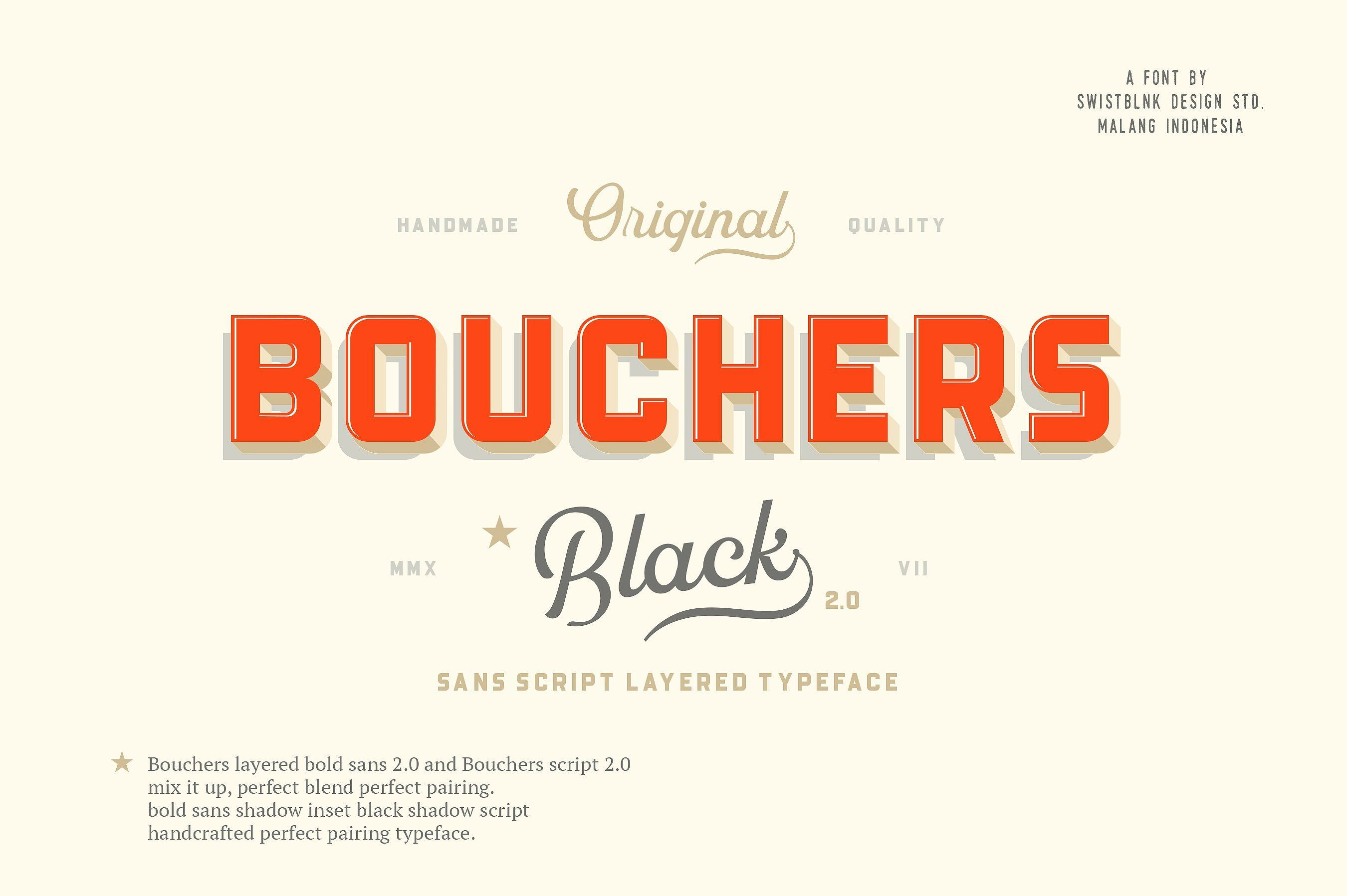 Ad Beautiful, vintageinspired font set with sans serif