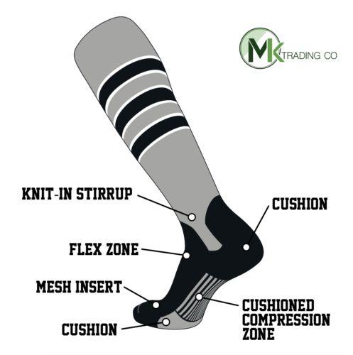 ab4398902ec Baseball Socks 181338  Tck Elite Baseball Knee High Stirrup Socks (D ...