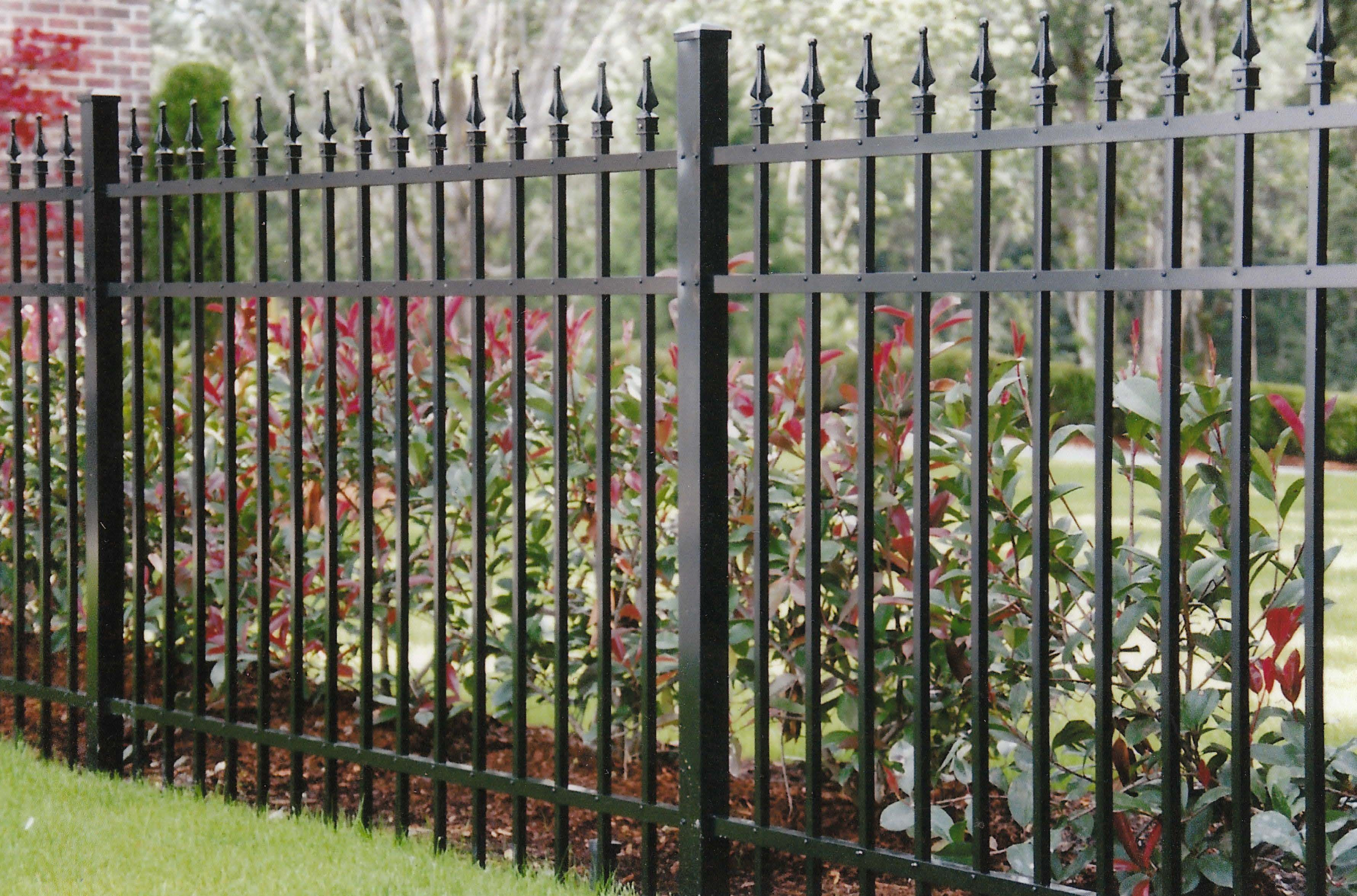 3 Rail Aluminum Ornamental With Spear Tops Wrought Iron Gates