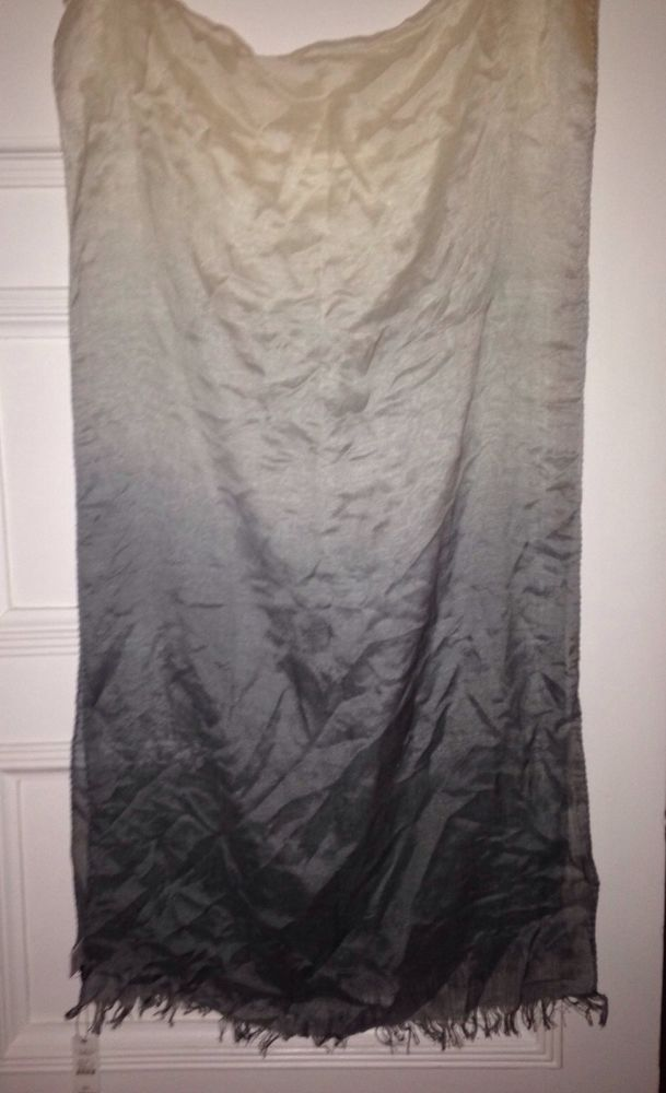 Talbots Silk Wool Cashmere gray ombre scarf #Talbots #Scarf