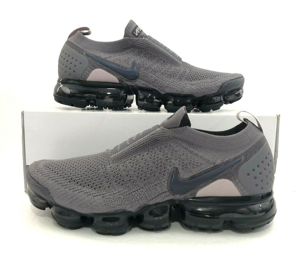 brand new 39183 3734a Nike Women's Air Vapormax Flyknit FK Moc 2 Gunsmoke Grey Black AJ6599-003  Sz 10