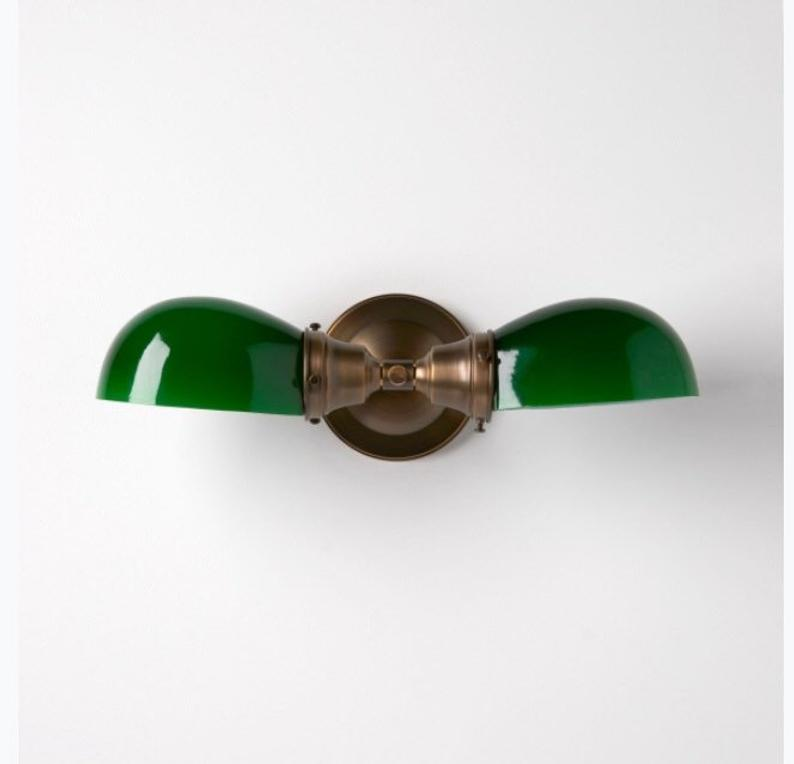 Photo of Kitchen lamp Bathroom lamp Wall lamp with green glass shades