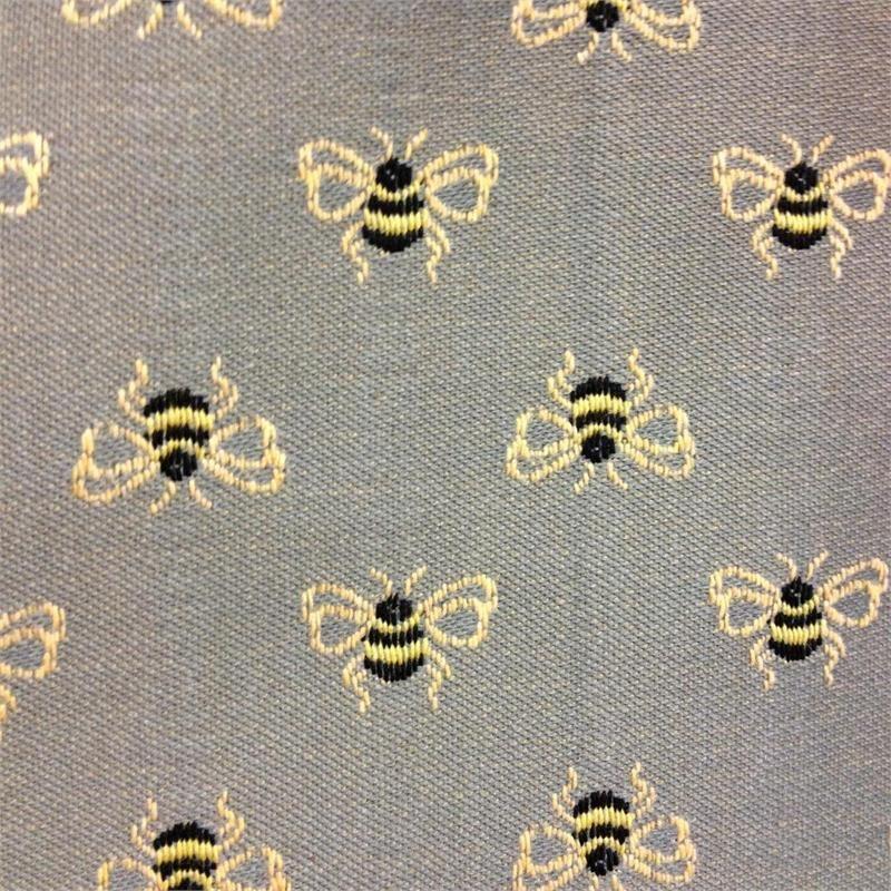 Bee Upholstery Fabric Bumble Bounce Junipher Grey Bee