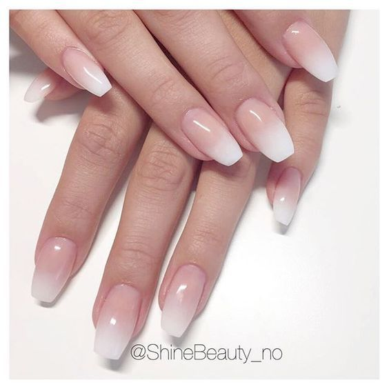 """Photo of Shine Beauty on Instagram: """"Fransk ombré 😍😍 #nails #notd #manicure #acrylicnails #ombrenails #babyboomers #frenchombre #shinebeauty #ezflow #prohesion @prohesion…"""""""