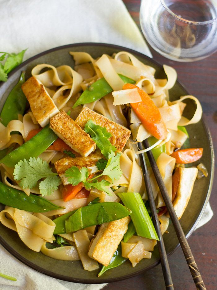 Tofu Chow Fun (vegan)