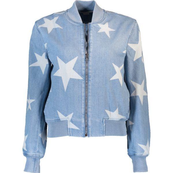 5e60b302dd3c Stella Mccartney Denim Star Bomber Jacket ( 1