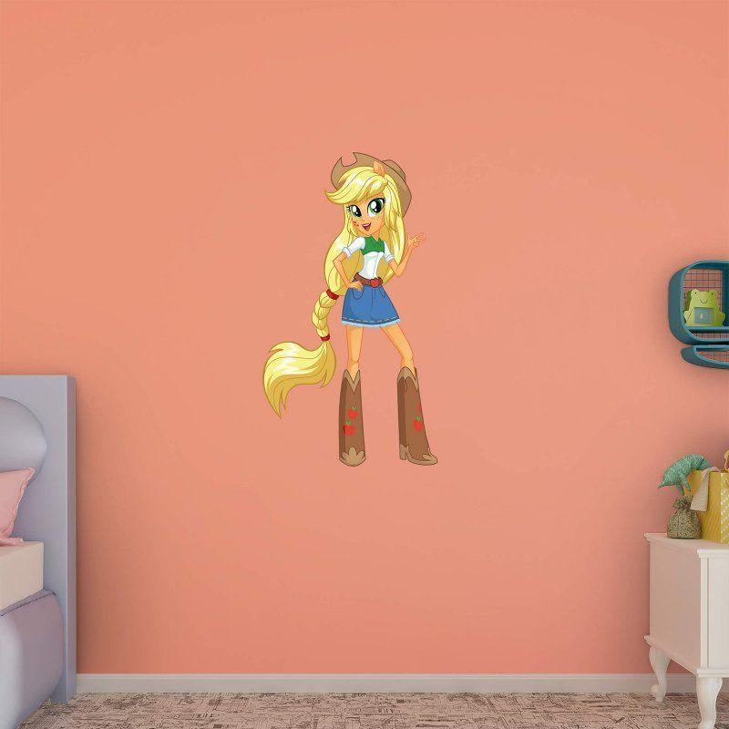 fathead my little pony applejack - equestria girls wall decal - 1030