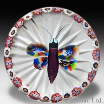 Antique Baccarat Butterfly paperweight