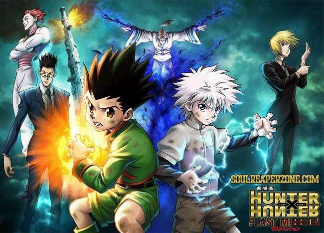 Hunter X Hunter The Last Mission Movie Bluray Bd 480p 260mb 720p 450mb Mkv Hatsuyuki Soulreaperzone Free Mini Mkv Anime Direct Downloads Hunter Anime Hunter X Hunter Anime