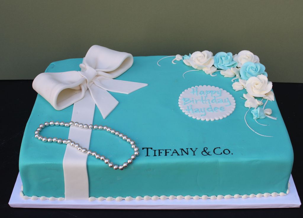 Phenomenal Tiffany Blue And White Tiffany Cakes Tiffany Blue Cakes Blue Funny Birthday Cards Online Alyptdamsfinfo