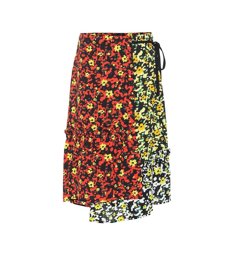 66ee6a58 Floral-printed georgette skirt | Products in 2019 | Skirts, Floral ...