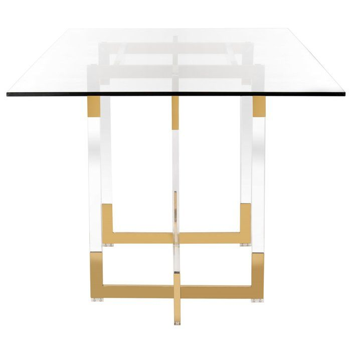 Custis Glass Dining Table Contemporary Glass Dining Table Contemporary Dining Table Glass Dining Table