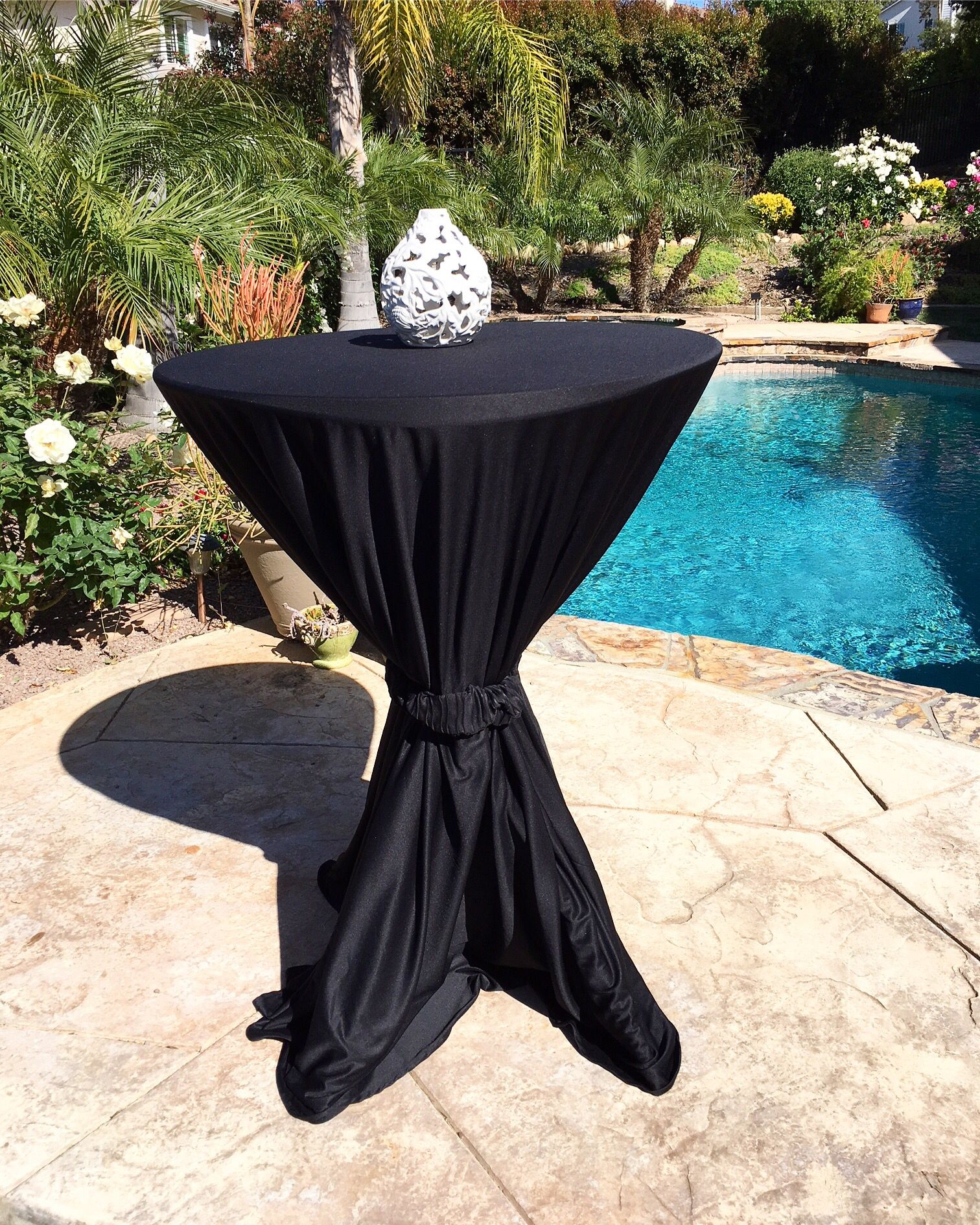 Spring Party Table Cloth Bistro Table Folding Table