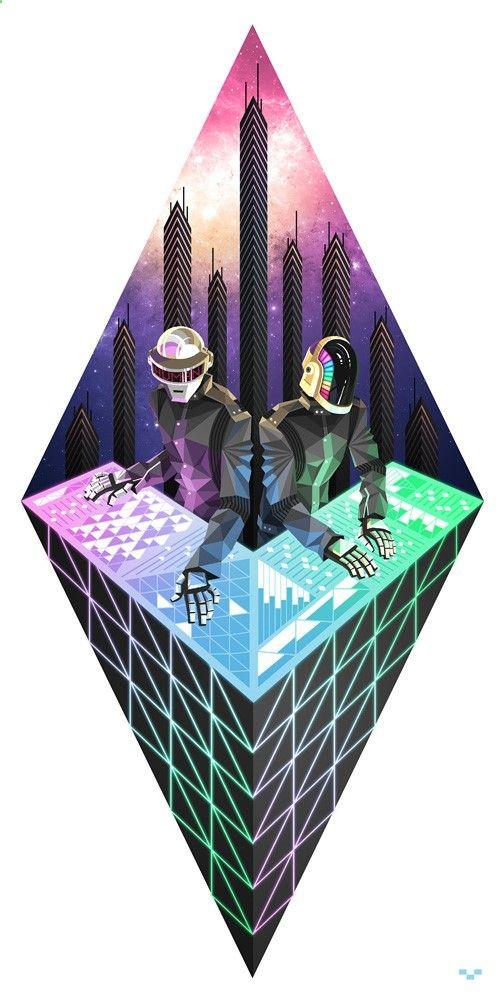 Daft Punk : 20 illustrations inédites et sublimes des deux robots. #DaftPunk