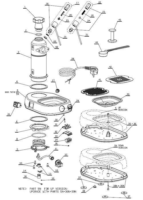 La Pavoni Europiccola Professional Parts Diagram Part