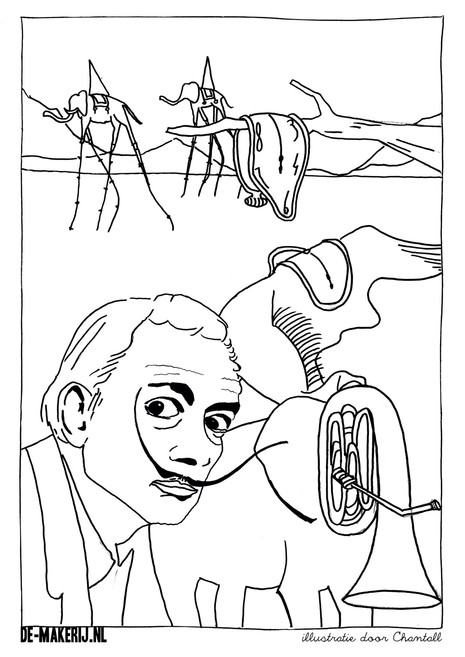 Free Coloring Pages Of Dali Paintings Salvador Dali Coloring Pages