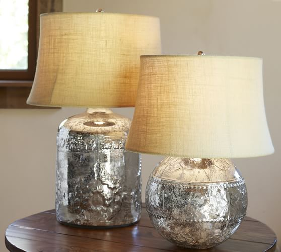 Marley Antique Mercury Glass Table Lamp Bases | Pottery Barn
