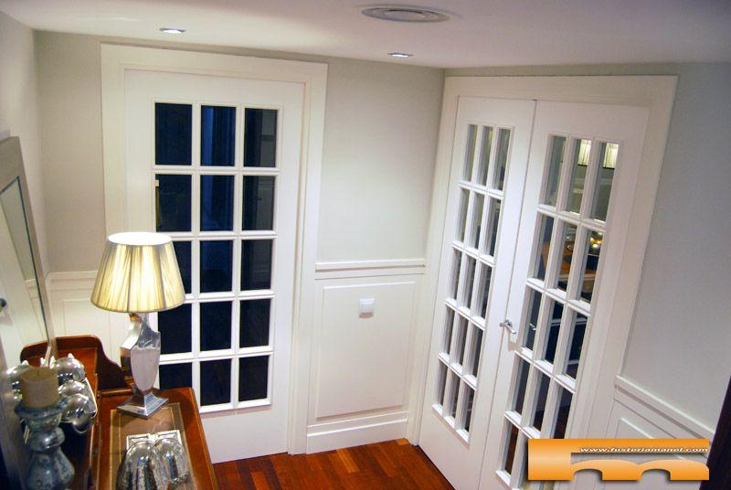 Puertas vidriera estilo franc s a medida yolanda for Puertas madera a medida