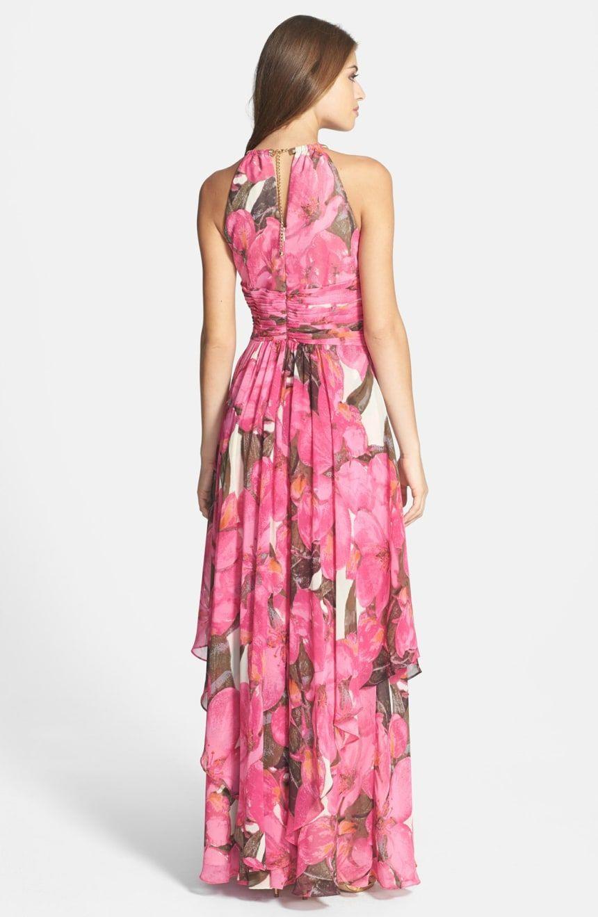 Eliza j print chiffon maxi dress nordstrom dresses in
