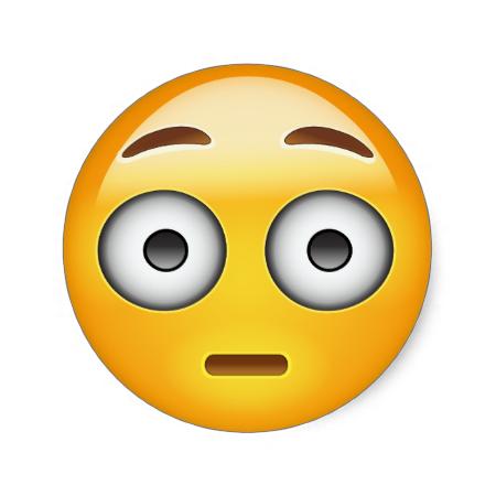 Flushed Face Emoji Classic Round Sticker Zazzle Com Emoji Stickers Emoji Emoji Faces