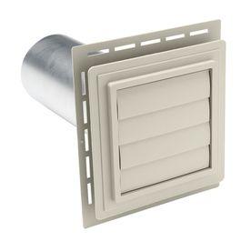4-In Dia Plastic R2 Exhaust Dryer Vent Hood 242948
