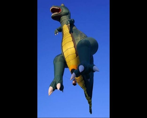 dinosaur hot air balloon