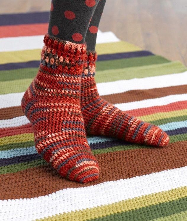 Cozy Crochet Socks Pattern Crochet Wearables Pinterest