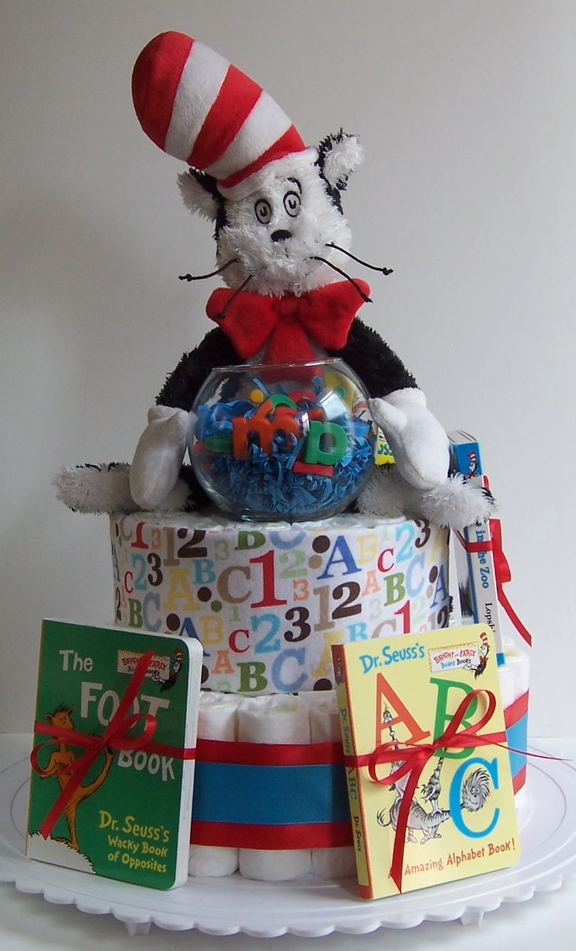 Cat In The Hat Diaper Cake Dr Seuss Baby Shower Baby