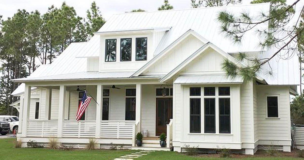 Take A Stroll Through This Spacious Clean And Simple Coastal Farmhouse Coastal House Plans House Plans Farmhouse Small Farmhouse Plans