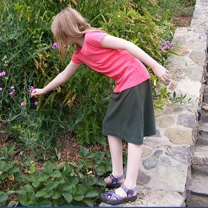 Easy A-line skirt pattern - for adults and kids.