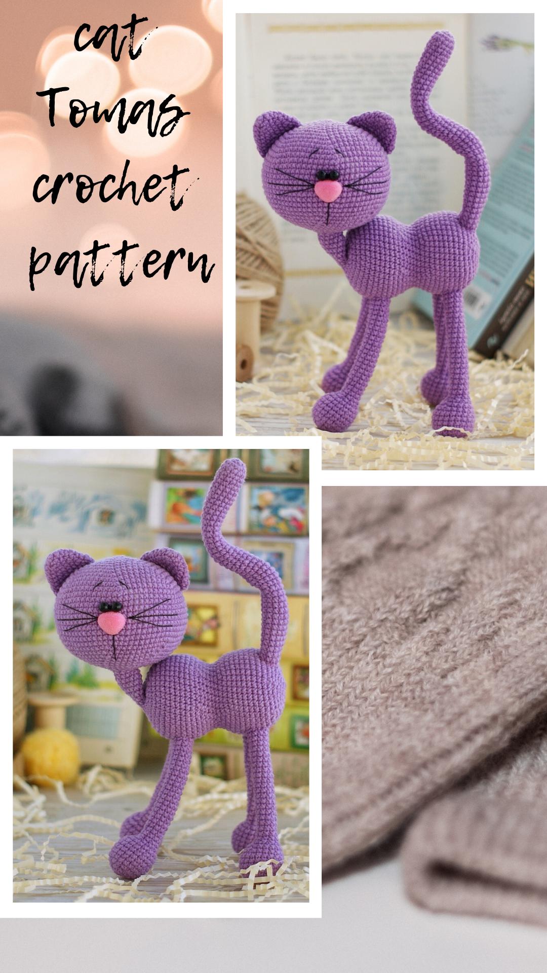 Cat THOMAS - Amigurumi crochet pattern (English only). PDF pattern, instant download, Crochet Cat