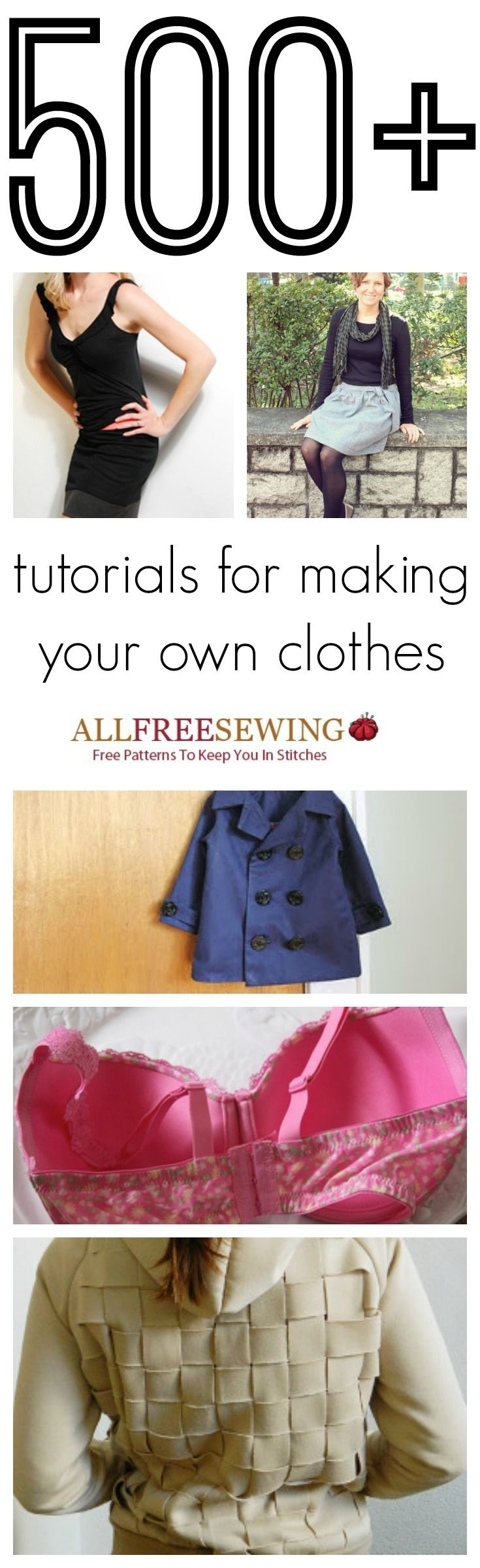 1cad457fd48ec How to Make Clothes: 500+ Tutorials for Making Your Own Clothes   DIY  fashion doesn't get much better than these sewing tutorials!