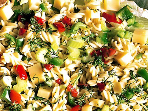 Pastasallad Med Kramig Dressing Recept Pastasallad Pastasallad Recept Recept