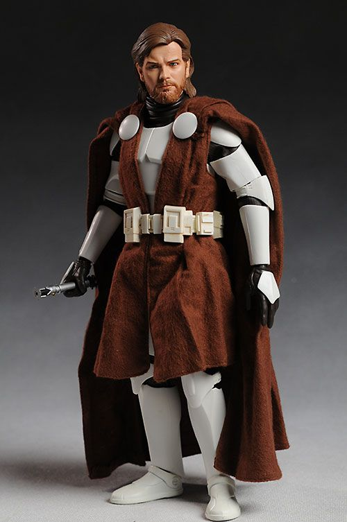 Sideshow Star Wars Obi Wan Kenobi In Clone Armor Action
