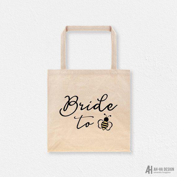 Bride To Be Tote Bag Cotton Canvas Bridal Bag Bride To