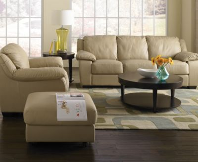 Blair Leather Sofa Living Room Furniture Collection ...