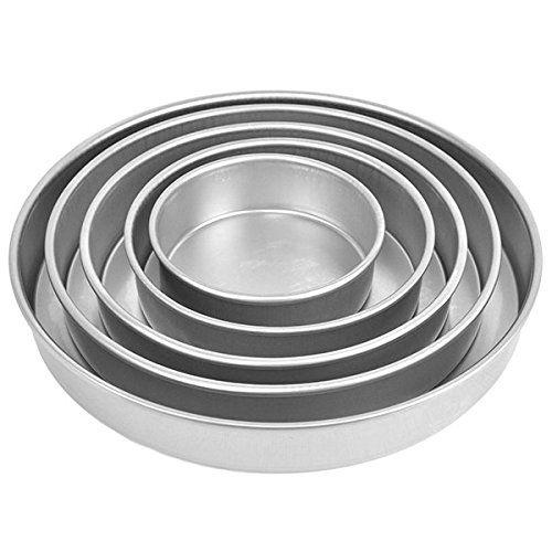 6 x 2 Inches Deep Parrishs Magic Line Round Cake Pan