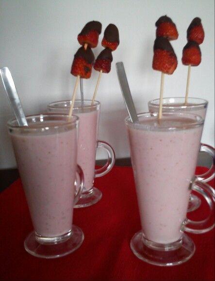 Batido de fresas