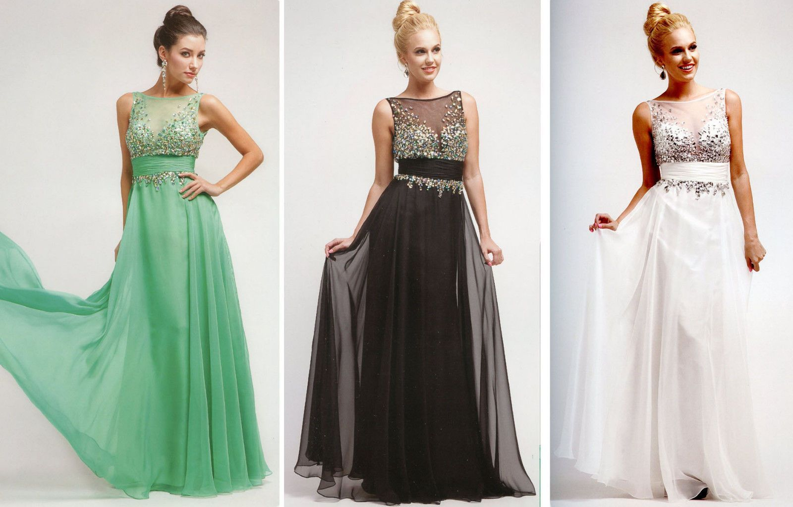 Details about 3 COLOR COCKTAIL PROM BRIDESMAIDS HOMECOMING FORMAL ...