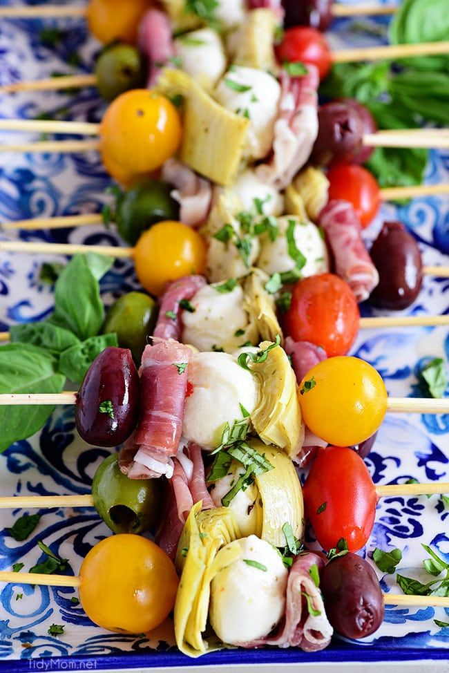 Photo of Antipasto Skewers – Easy Party Food