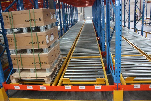 Pallet Roller Flow Racking Flow Through Racking System