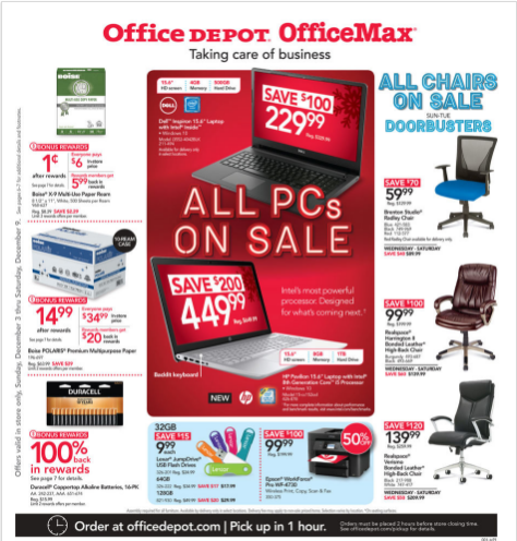 Office Depot OfficeMax Weekly Ad Dec 03 09, 2017
