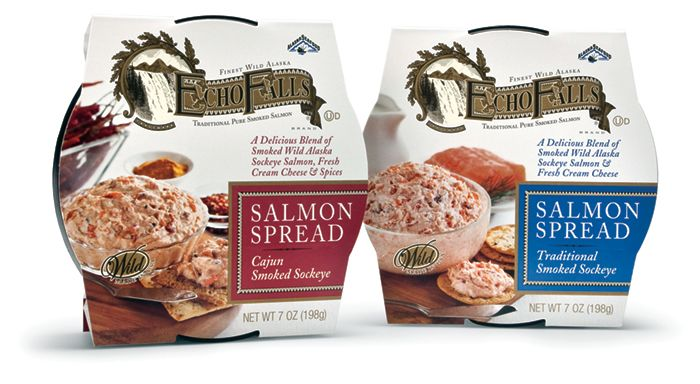 Echo Falls Salmon Spread. Packaging by Mark Oliver, Inc ...