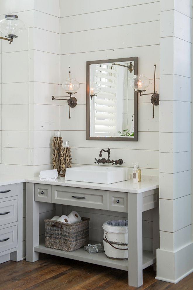 Home With Exposed Brick And Reclaimed Wood Interiors Home Bunch An Interior Desi Farmhouse Bathroom Vanity Bathroom Vanity Remodel Small Farmhouse Bathroom