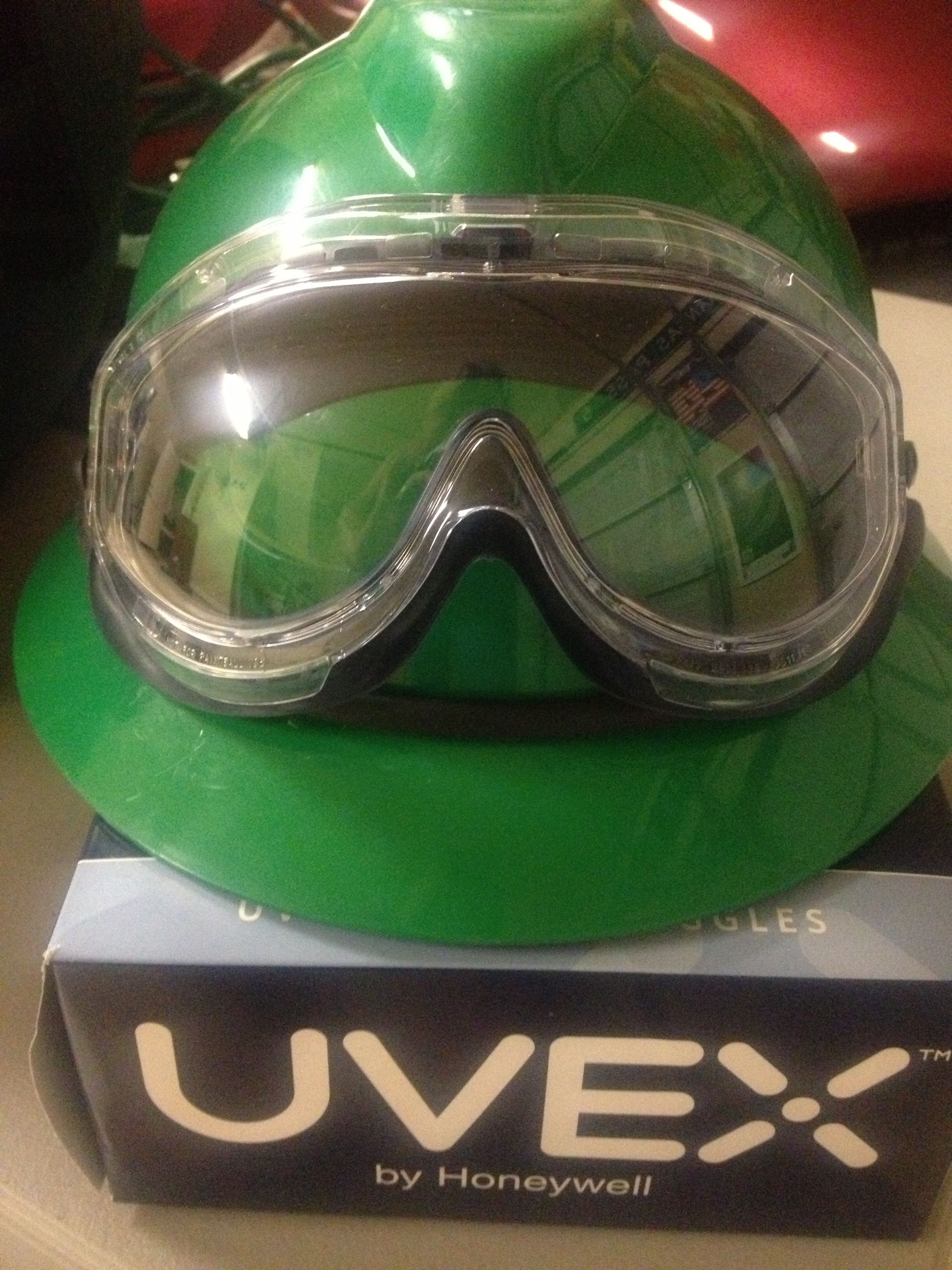 UVEX safety goggles by Honeywell. Available at Grainger