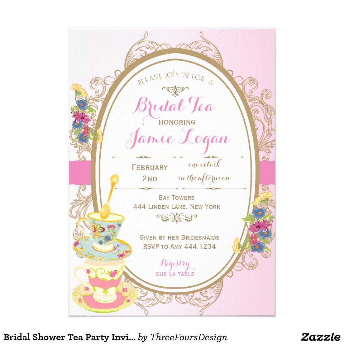 Bridal Shower Tea Party Invitation  Bridal Shower Tea Tea Party