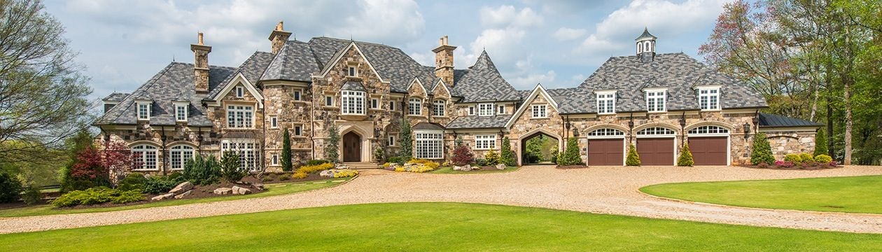 Huge house brick mansion dream homes pinterest for Large house builders