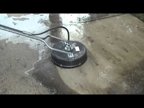 Surface cleaner and Water Cannon in Action - YouTube