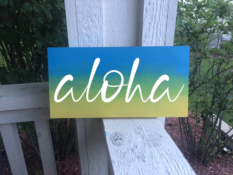 Excited to share this item from my #etsy shop: Aloha Sign | Hawaiian Decor | Beach Sign | Beach House Decor | Hawaiian Sign | Beach Decor | Coastal Wall Decor | Beach Wall Art #beachsigns #hawaiisign #hawaiiandecor #hawaiiansign #beachdecor #aloha #alohasign #outdoorsign #beachart