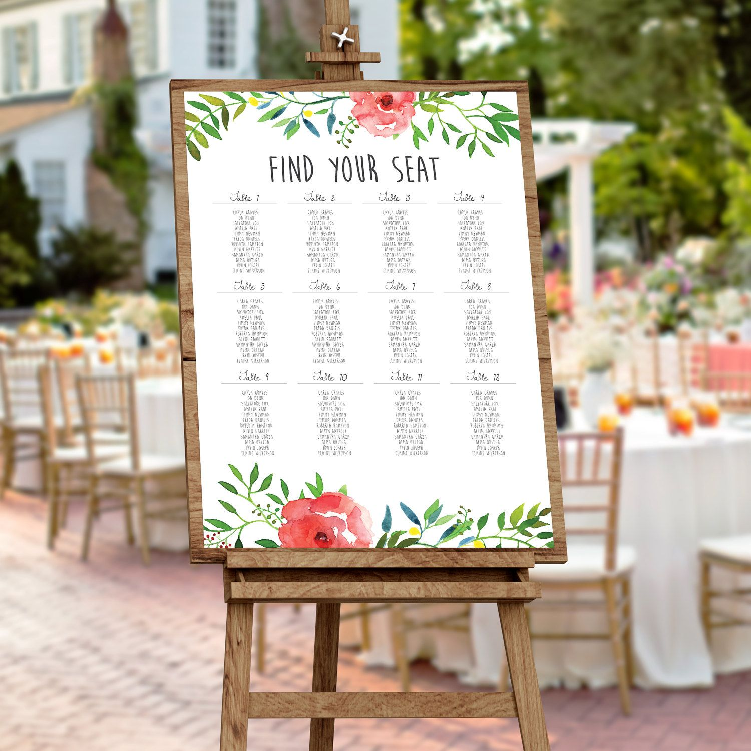 Rustic Wedding Seating Chart Ideas: Wedding Seating Chart, Seating Chart, Outdoor Wedding